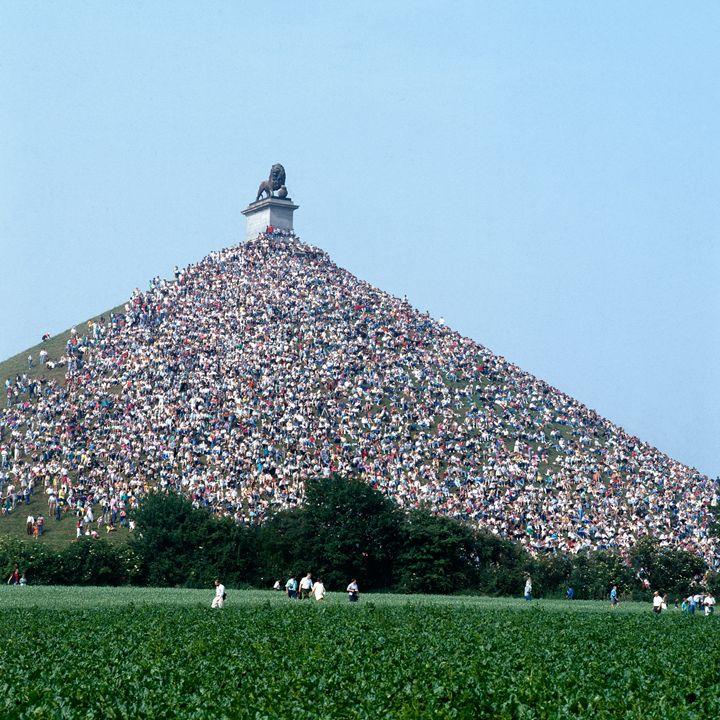 Lions Mound memorial - scanned image - pbombaert