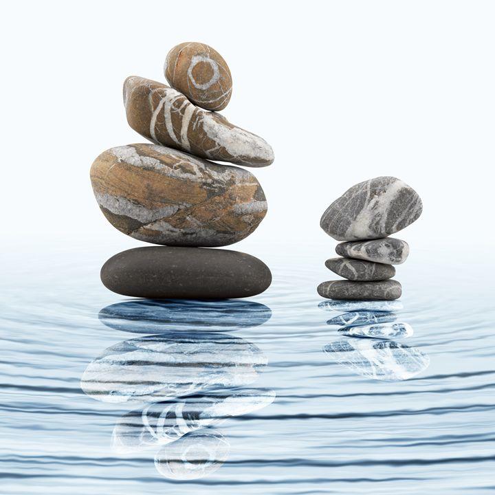 Zen stones in water - pbombaert