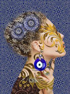 Girl Tangled in Eastern Art