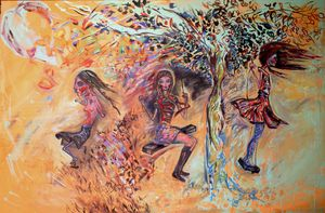 Girls on Swing (The Three Seasons)
