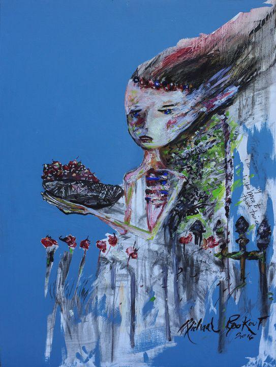 Girl Gathering Cherries - Beautifully Broken Hearts
