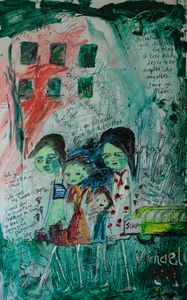 Zombie Children with Mother on Their