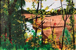 Delta through the Trees🌲 - Andrew Williams Art