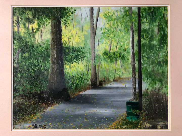 Path through the Park - Andrew Williams Art