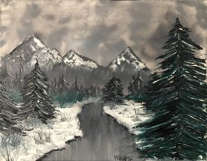 Icy River - Andrew Williams Art