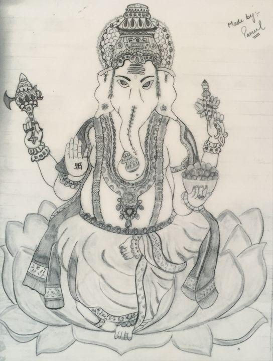 Ganesha - Pencil sketches by parul