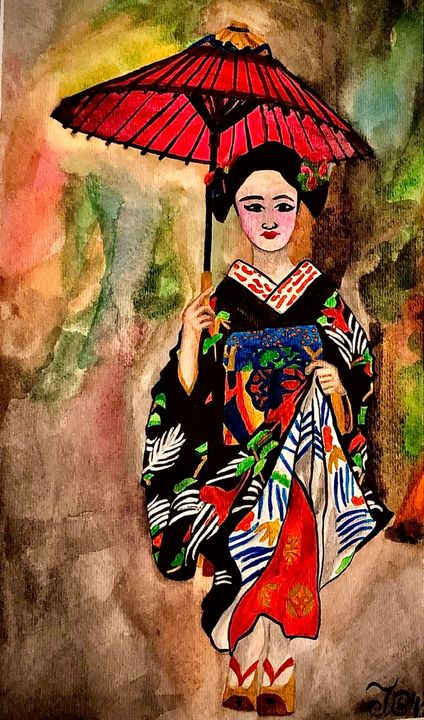Japanese Geisha - Jessie Bee Artworks