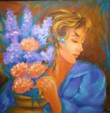 Girl with a flower pot