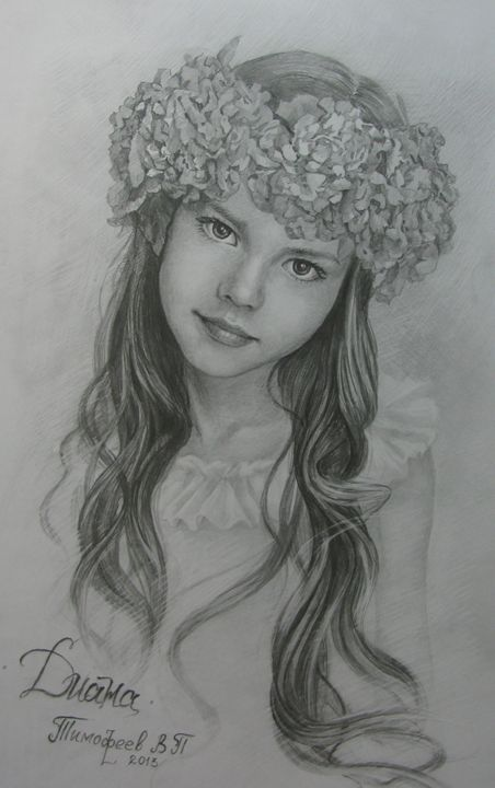 young girl with a wreath on his head - PashaTP