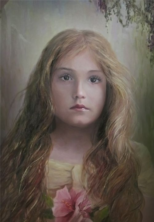 young girl with a flower - PashaTP