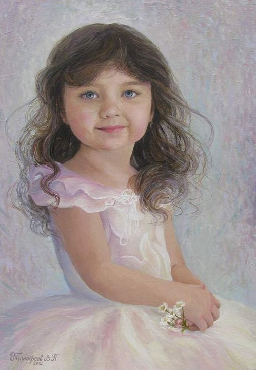 young girl in a white dress - PashaTP