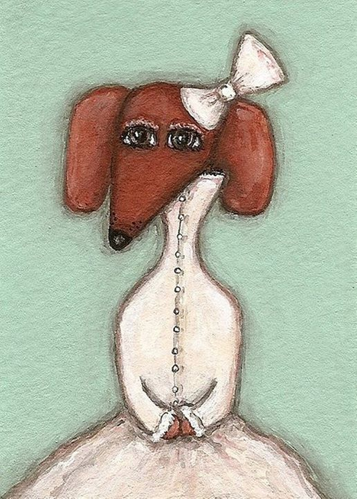 Dachshund in a dress - PashaTP
