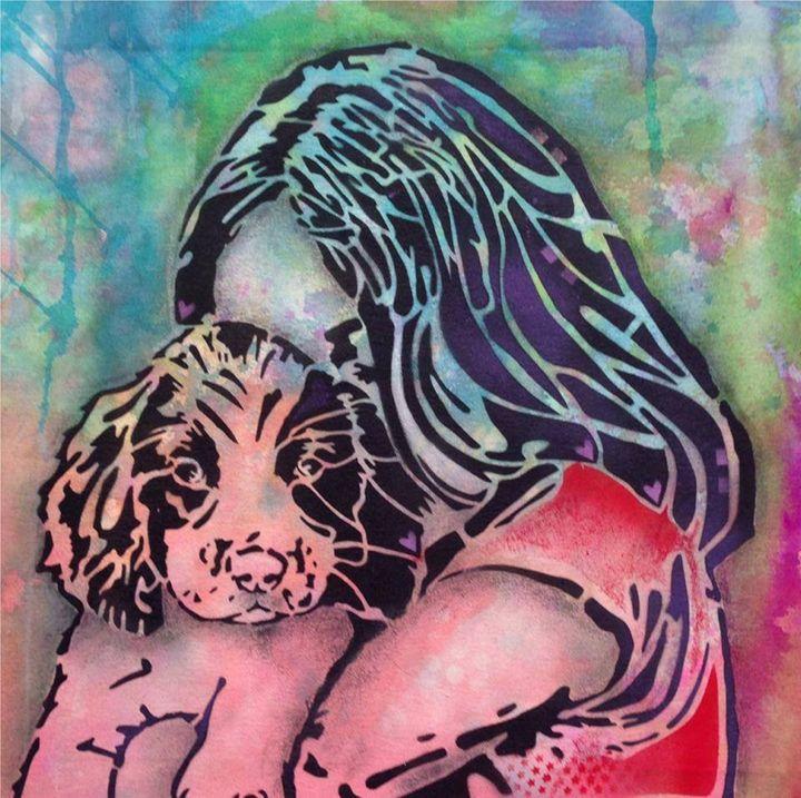 Girl and dog - PashaTP