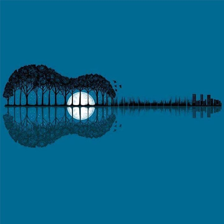Trees sea and the moon turned guitar - PashaTP
