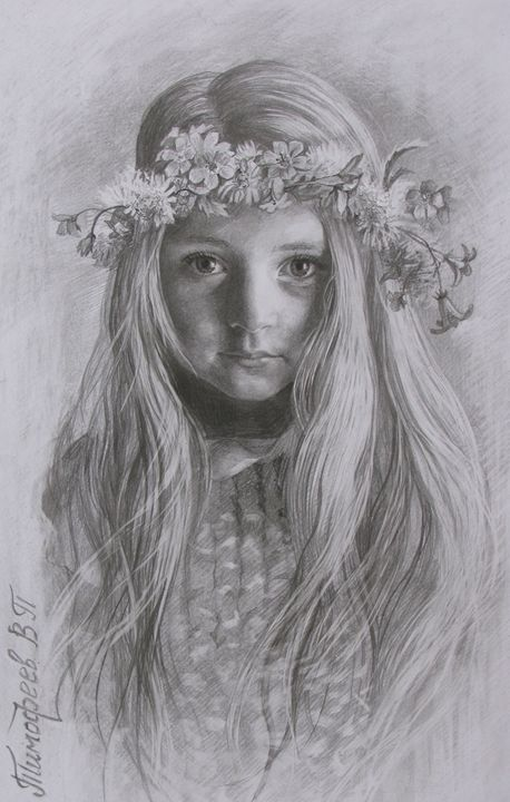young girl in a wreath of flowers - PashaTP