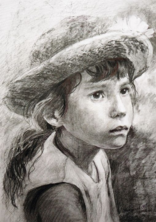 young girl in a hat - PashaTP
