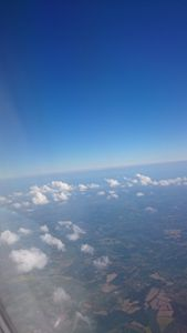 Land from above the clouds