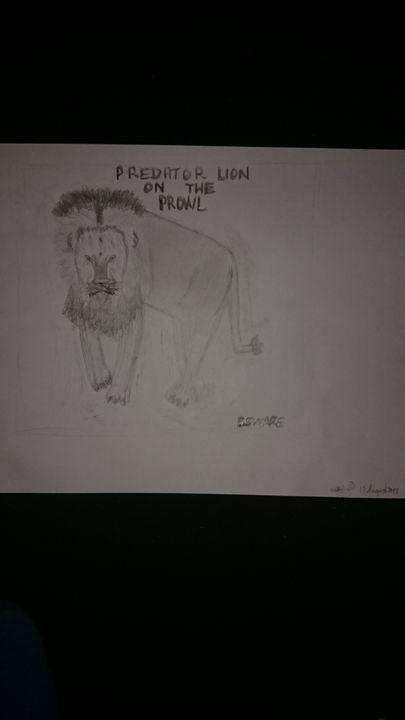 Predator Lion On The Prowl - Artistic Pleasures
