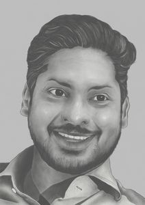 Pencil Styled Portrait of Sangakkara