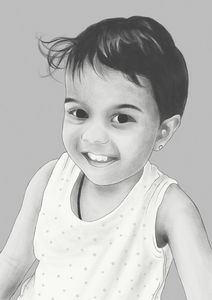 Pencil Styled Portrait of a Child