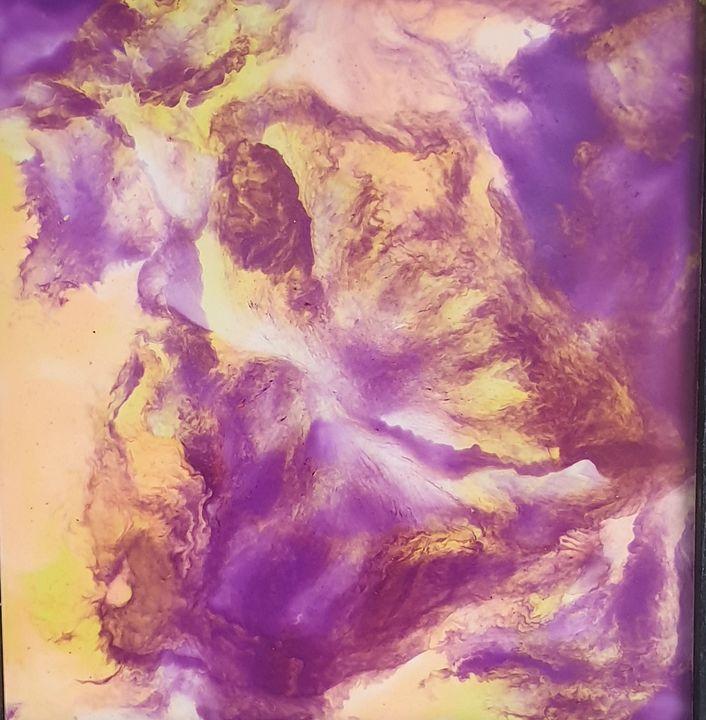 Purple  mist - Debspaintings