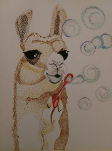 Whimsical Llama - Starving Artist