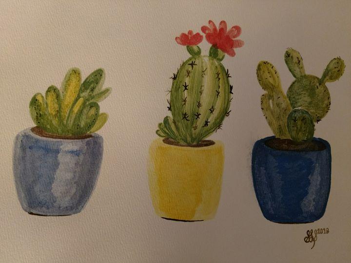 Watercolor Cacti - Starving Artist