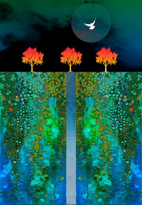 Three Trees - Teds Art Page