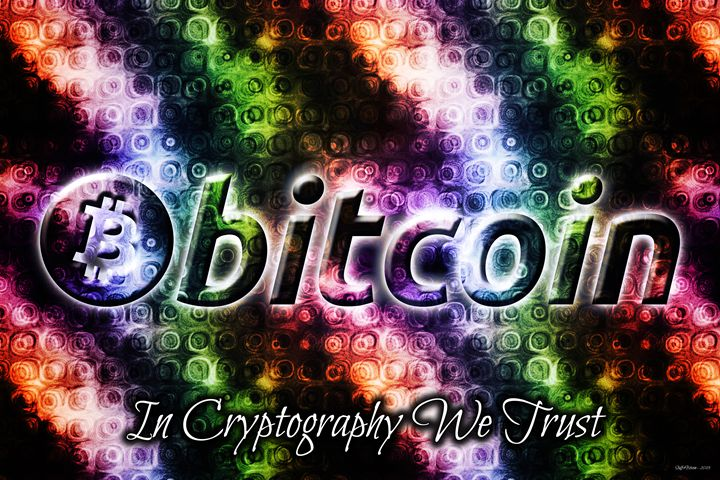 In crypto we trust - Bitcoin Graphical Art Prints