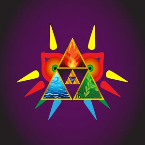 Zelda Inspired Majora Triforce Navi