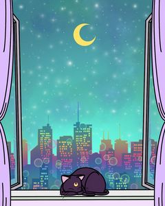 Sleeping Luna (sailor moon fan art)