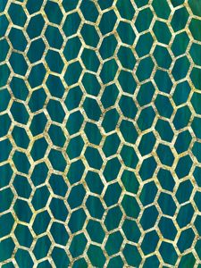 Green & Gold Abstract Leaf Pattern