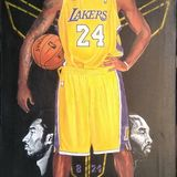 Michael jordan on canvas