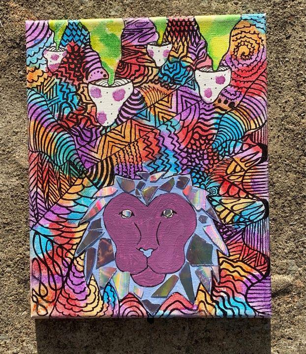 Zentangle Lion - Aubrie Don