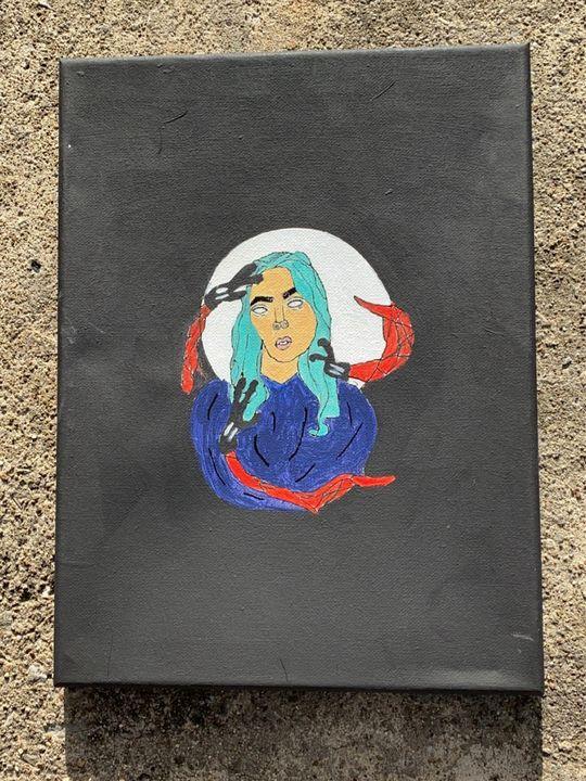 Billie Eilish Painting - Aubrie Don