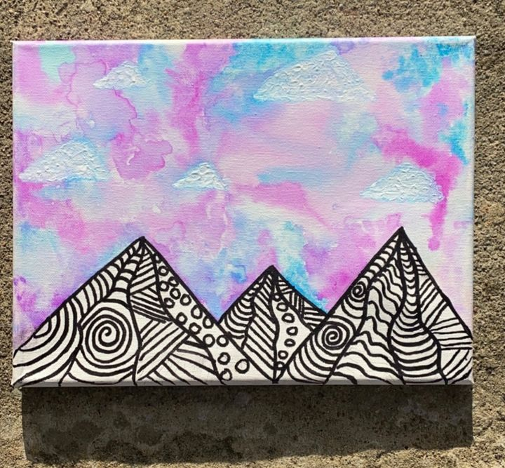 Zentangle Mountains - Aubrie Don