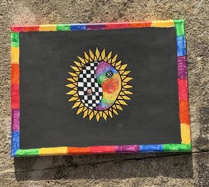 Checkered Rainbow Flower