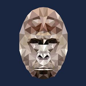 Gorilla in Low-Poly