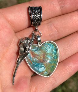 Bird Skull Heart Blue