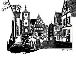 Old Rothenburg Pen & Ink