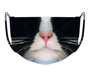 Black and White Cat Mask