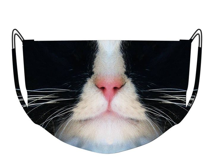 Black and White Cat Mask - AfterImageArt