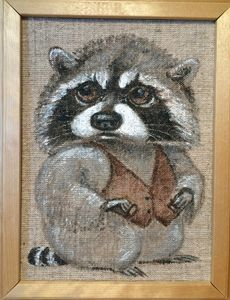 Raccoon in waistcoat