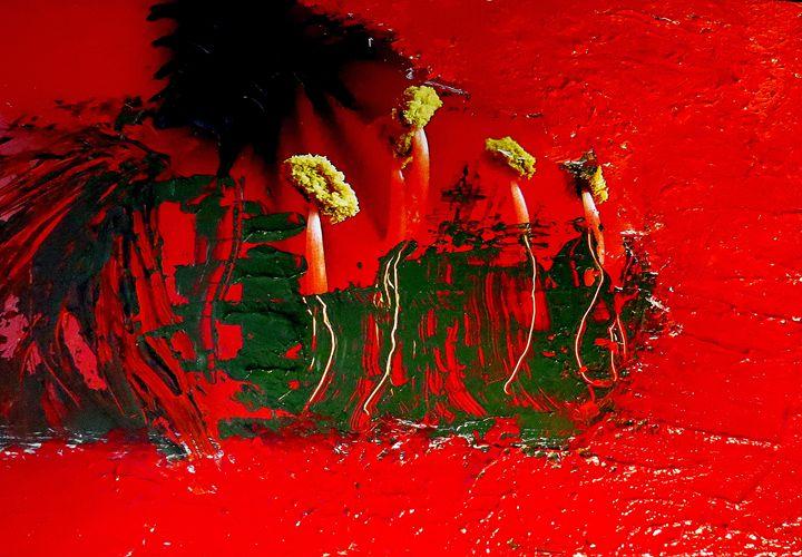 Amaryllis bathing in red acryl - Gallery Florette
