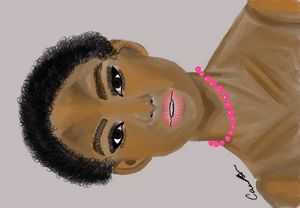 Woman with Pink Pearls