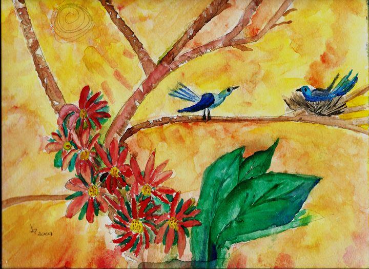 Mom and Dad Birds - JulioBP