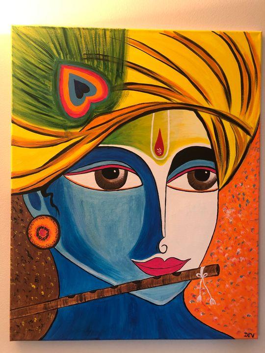 Krishna painting - Dev kala