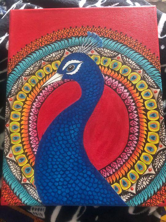 Peacock painting - Dev kala