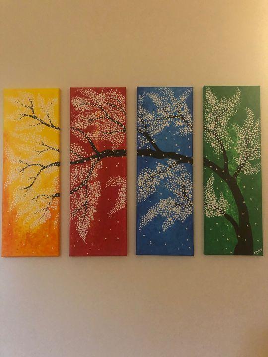Canvas painting - Dev kala