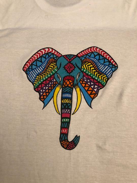 Painting on T-shirt - Dev kala